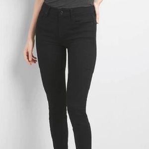 Gap Everblack Mid Rise Skinny Jeans 34 18 v791